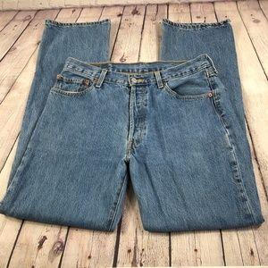 Levi's 501 Straight Leg Jeans 35x34 Red Tab